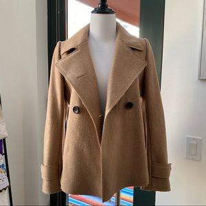 Jackets & Blazers - Uniqlo +J Short Wool Tan Camel Peacoat XS